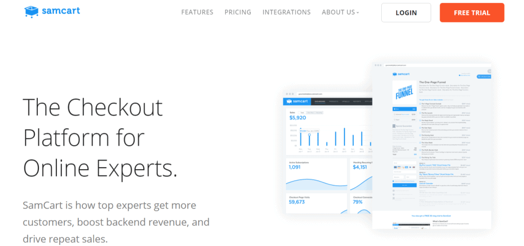 Samcart Landing Page Software  New Things